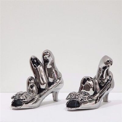 Yayoi Kusama, 'Silver Bow Shoes', 2013