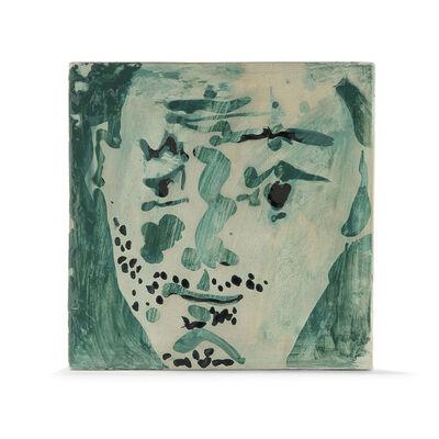 Pablo Picasso, 'Tête d'homme barbu (recto), Visage bleu (verso)', 1965