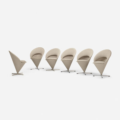 Verner Panton, 'Cone chairs, set of six', 1958