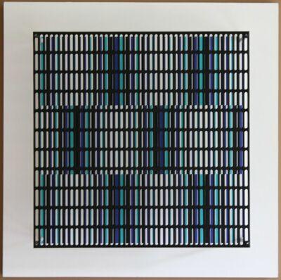 Antonio Asis, 'vibration bandes noir, bleu et turquoise', 2010
