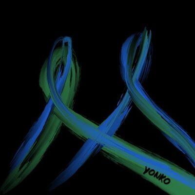 Yonko Kuchera, 'Black, Blue and Green', 2019