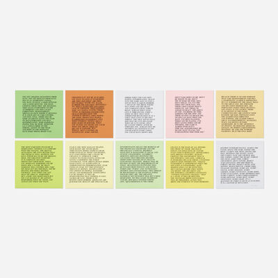 Jenny Holzer, 'Inflammatory Essays (set of ten)', c. 1982