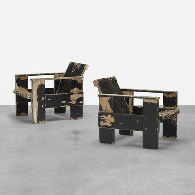 Gerrit Thomas Rietveld, 'Crate Chairs, Pair', 1935