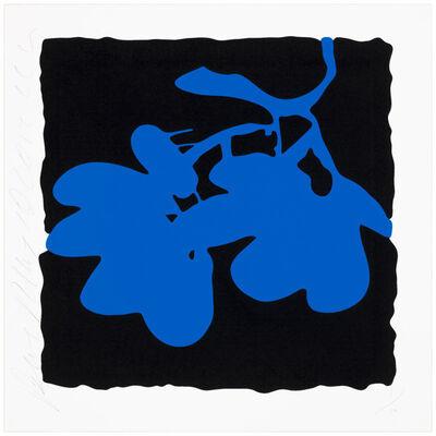Donald Sultan, 'Lantern flowers - blue', 2012