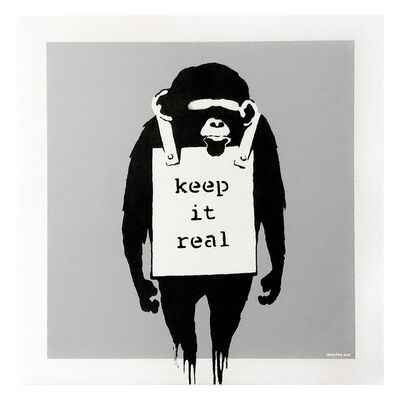 Banksy, 'KEEP IT REAL / LAUGH NOW (Silver Cover Album)', 2008