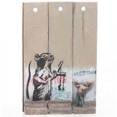 Banksy, 'SUMMER SALE / BANKSY Walled Off Hotel Wall Sculpture / Iconic SLING SHOT RAT (2019-2020)', 2019-2020