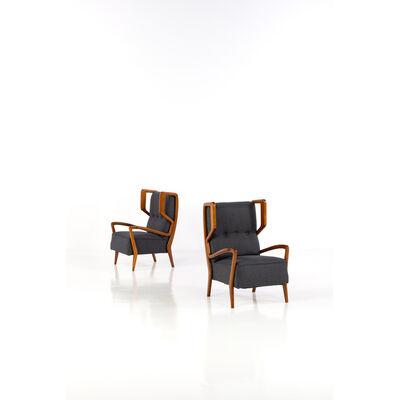 Orlando Orlandi, 'Pair of armchairs', 1948