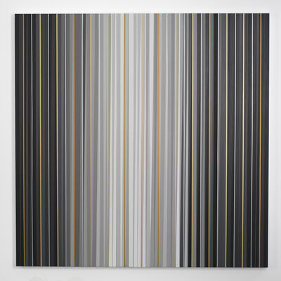 Gabriele Evertz, 'Grays + Metallics (Aedicula), The Black Room Series', 2014