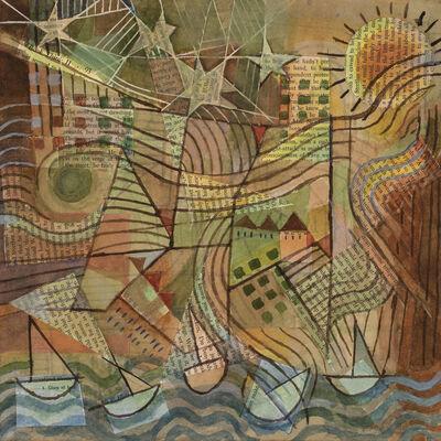 Sanda Iliescu, 'Peter's Park (no. 7): At the Lake, 2018. Pencil, watercolor, gouache, paper collage on paper', 2018