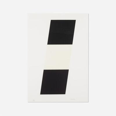 Ellsworth Kelly, 'Black White Black', 1970
