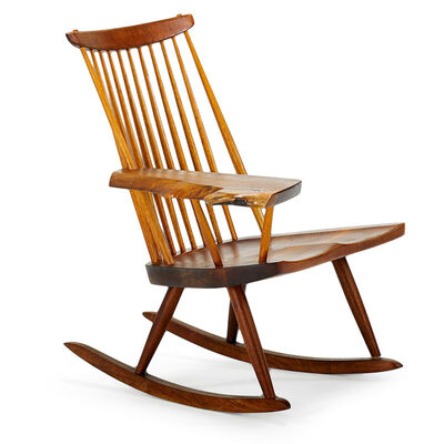 George Nakashima, 'Lounge Chair Rocker With Arm, New Hope, PA', 1978