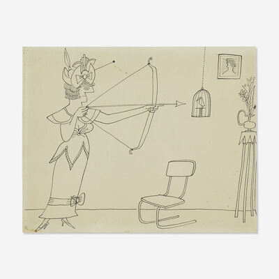 Saul Steinberg, 'Archer (double sided)'