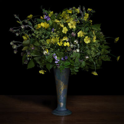 T.M. Glass, 'Buttercups and Other Wildflowers in a Japanese Vase', 2018