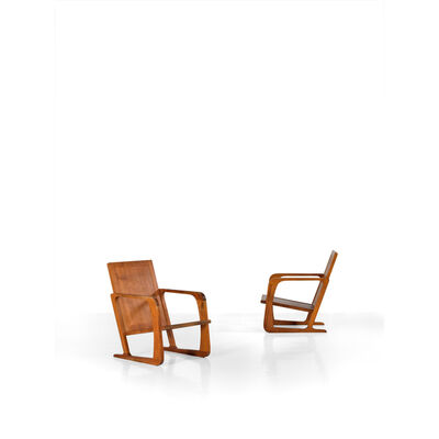 Kem Weber, 'Pair Of Armchairs', 1935
