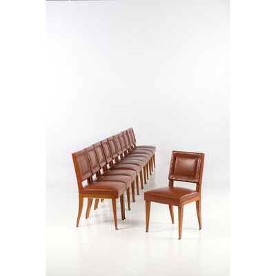 Jacques Quinet, 'Set of eleven chairs', 1940s