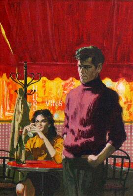 John McDermott, 'Young Man in Parisian Cafè', ca. 1950