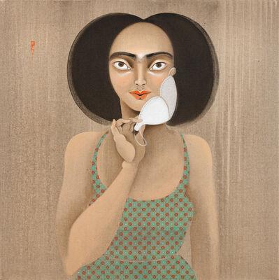 Hayv Kahraman, 'Moustache mask', 2021