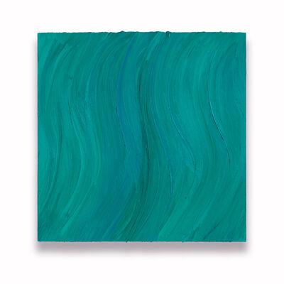 Jason Martin, 'Untitled (Caribbean blue / Zinc green deep)', 2020