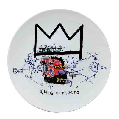 Jean-Michel Basquiat, 'King Alphonso porcelain plate'