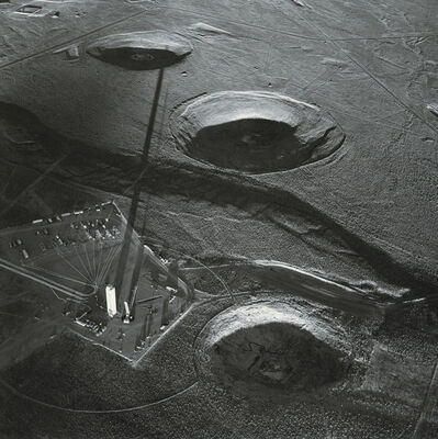 Emmet Gowin, 'Tower and Diagnostic Array for the US/UK Test Icecap, Suspended 1992, Nevada Test Site', 1996