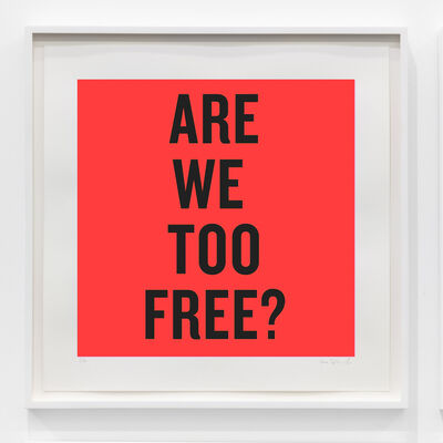 Douglas Coupland, 'Are we too free?', 2020