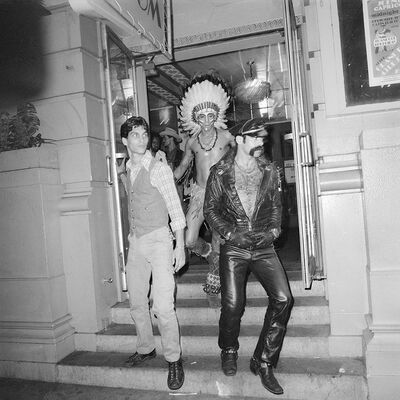 Meryl Meisler, 'The Village People Stepping Out of the Grand Ballroom', 1978
