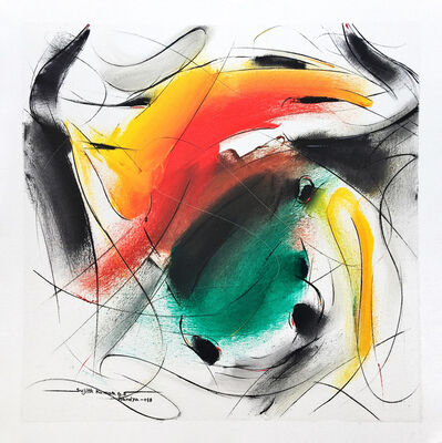Sujth Kumar G.S. Mandya, 'Bull Painting - 688', 2018