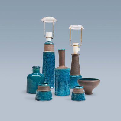 Nils Kähler, 'Collection of turquoise glazed stoneware ', 1950-1970