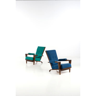André Sornay, 'Pair of armchairs', near 1955