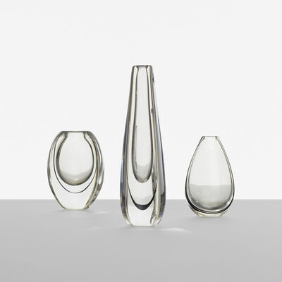 Vicke Lindstrand, 'collection of three vases', c. 1955