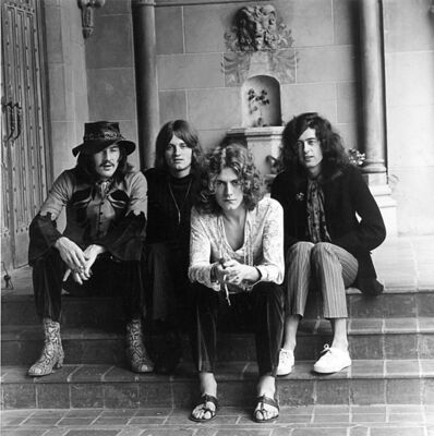 Jay Thompson, 'Led Zeppelin Group Portrait at the Chateau Marmont Hotel in Hollywood, Ca 1969', 1969