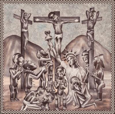 Tsham, 'Christ en croix', 2017