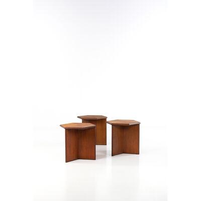 Frank Lloyd Wright, 'Set of Three Side Tables', 1950