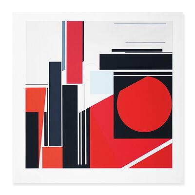 Günter Fruhtrunk, 'Komposition im Quadrat', 1971