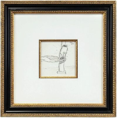 William Anthony, 'Holding on to a Post, Drawing', 1980-1989