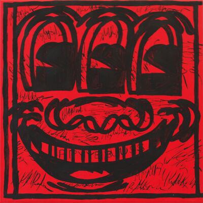 Michael Pybus, 'Thumbnail Painting (Haring Face)', 2015