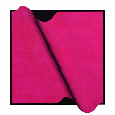 Roberto lucchetta, 'Pink Fluo Surface 2019 - Abstract painting', 2019