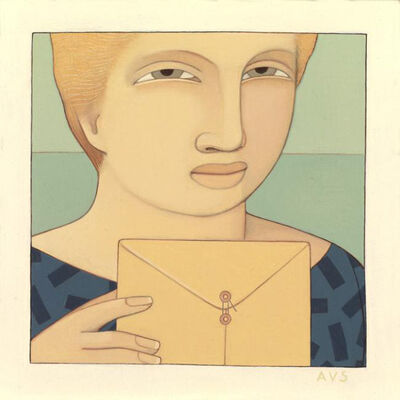 Andrew Stevovich, 'Woman with Envelope', 1990