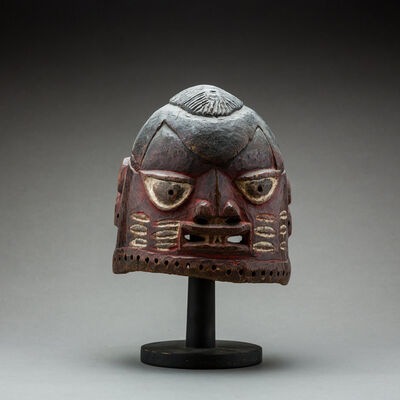 Unknown Yoruba, 'Yoruba Painted Wooden Dance Mask', 20th Century AD