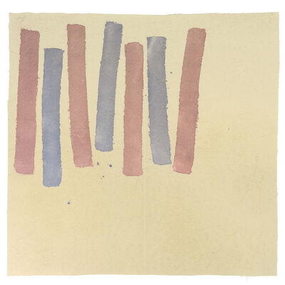 Giorgio Griffa, 'Due colori', 1977