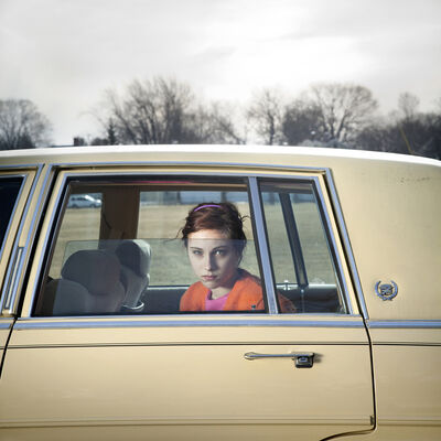 Cig Harvey, 'Pale Yellow Cadillac, Sadie, Portland, Maine', 2010