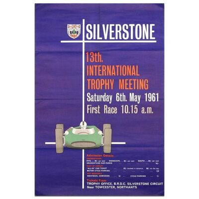 Event Poster, 'International Trophy Race 1961 Silverstone', 1961
