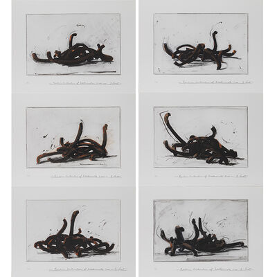 Bernar Venet, 'Random Combination of Indeterminate Lines (Portfolio of 6)', 2019