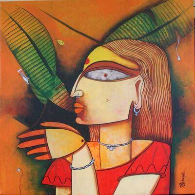 Prakash G Nayak, 'Mask of Goddess 23', 2019