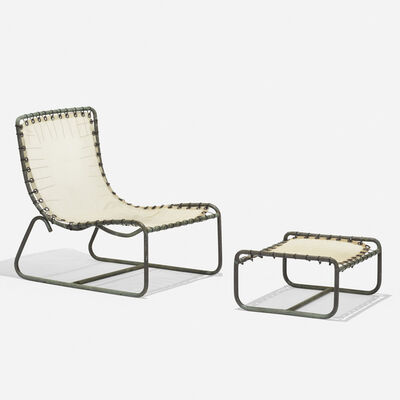 Walter Lamb, 'Lounge chair and ottoman', c. 1960