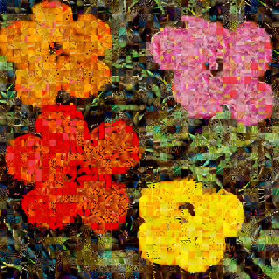 Andrea Morucchio, 'Hibiscus 01 | Puzzling Pop series | Revisiting Andy Warhol's Flowers ', 2019