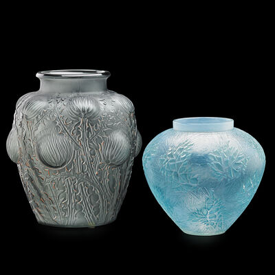 "Lalique, 'Esterel and ""Domremy"" vases', des. 1923/26"