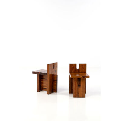 Lina Bo Bardi, 'Pair of chairs', circa 1970