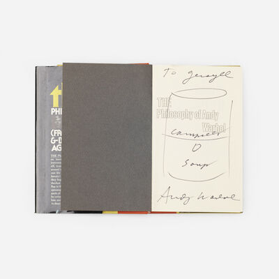 Andy Warhol, 'signed first edition copy of The Philosophy of Andy Warhol', 1975