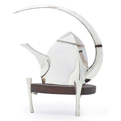 Michael Banner, 'Miniature sculptural teapot on stand, Monterey, MA', 2001